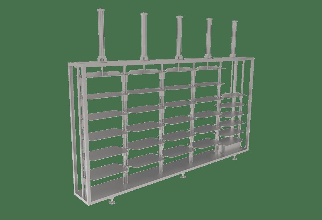Sistema de prensado vertical